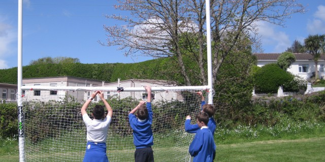 Goalposts for the field!