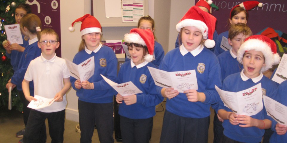 Carol Singing in Super Valu and AIB