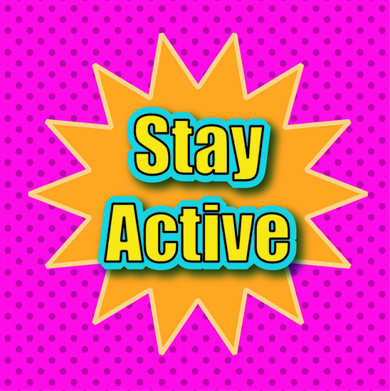 stay active motivation stamp clipart