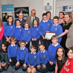 Summercove NS receiving a highly commended award from Kinsale Tidy Towns.