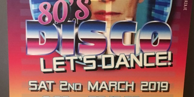 '80's Disco – Let's Dance'  Fundraiser